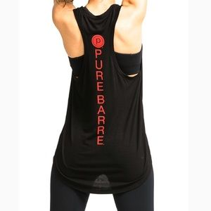Pure Barre Black Racerback Tank Top